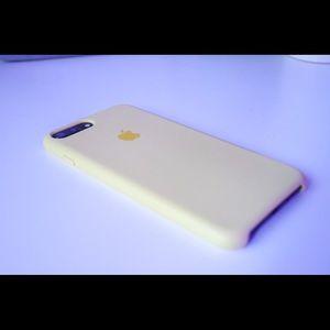 Apple Logo Light Yellow Case for iPhone 7 Plus